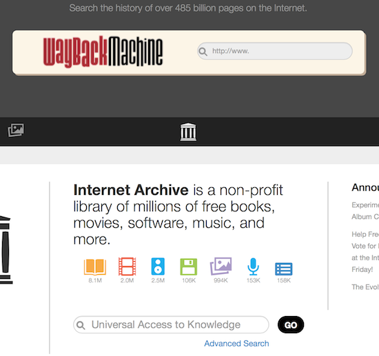 archive wayback machine