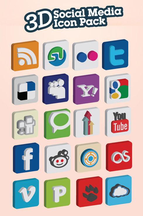 3d-social-media-icons