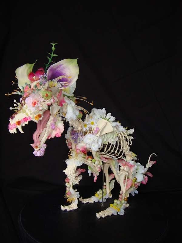 floral skeletal sculpture for inspiration