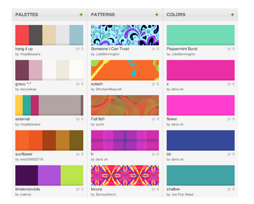 colour lovers patterns