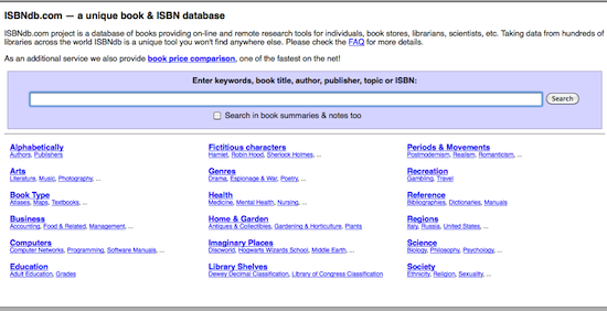 ISBN Database Offers Free API Access - Free Website Tools