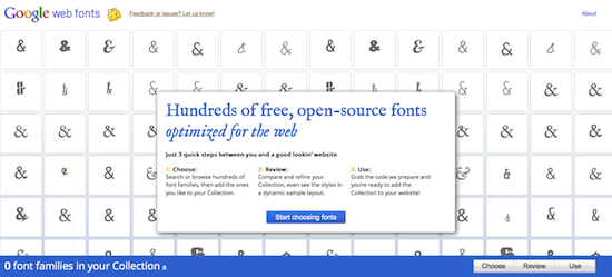 Hundreds of Free, Open-Source Web Fonts - Free Website Tools
