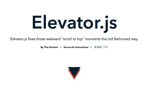 Scroll-to-Top Elevator js - Free Website Tools